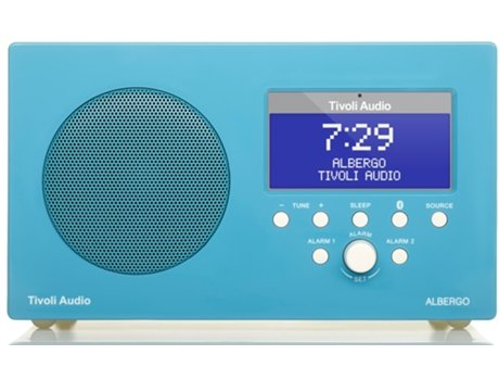 Rádio TIVOLI AUDIO Albergo (Azul e Branco - Digital - AM / FM  - Corrente) — Digital