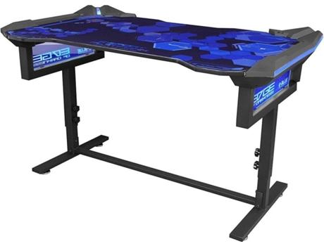 Mesa Gaming E Blue Rgb Egt004 Em Preto E Azul Wortenpt