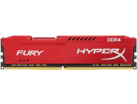 Memória RAM KINGSTON Hyperx Fury Red 8GB DDR4 2666Mhz CL16 DIMM 1RX8 — 8GB | DDR4 | 2666Mhz