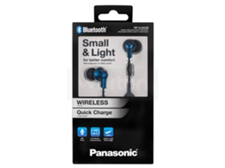 Auriculares Bluetooth PANASONIC RP-NJ300BE (In Ear - Microfone - Azul) — In Ear | Microfone | Atende chamadas