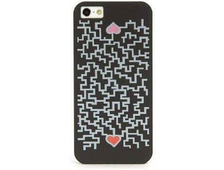 Capa TUCANO Cuore iPhone 5/5S/Se Preto/Grey