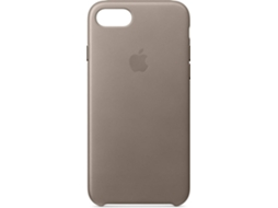 Capa APPLE Leather Taupe iPhone 7, 8 Castanho — Compatibilidade: iPhone 7, 8