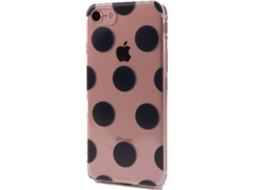 Capa KUNFT Black Circles iPhone 7, 8 Preto — Compatibilidade: iPhone 7, 8