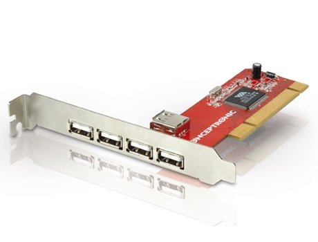 Placa PCI CONCEPTRONIC 5P USB 2.0 — 5 Portas