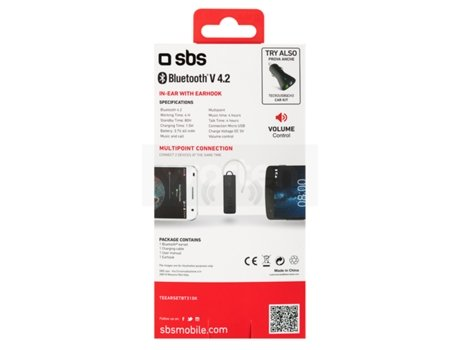 Auricular Bluetooth SBS 4.1 Preto — Bluetooth