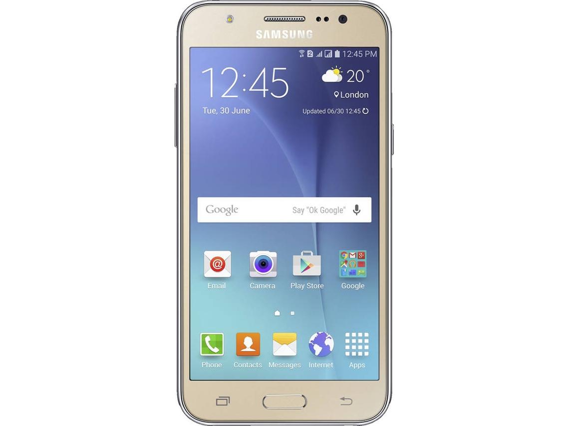 Smartphone Samsung Galaxy J5 Dual Sim Recondicionado Grade A 5 1 5 Gb 8 Gb Dourado Worten Pt