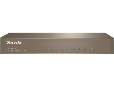 Switch TENDA Rack 8 Portas TEG 1008D — 16Gbps / 8 Portas