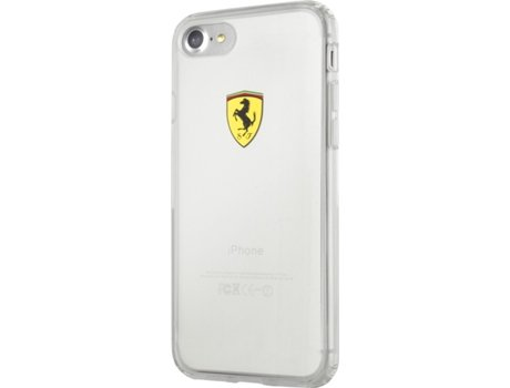 Capa FERRARI Racing iPhone 7 Plus, 8 Plus Transparente — Compatibilidade: iPhone 7 Plus, 8 Plus