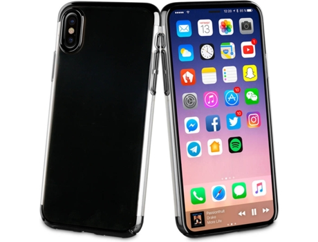 Capa MUVIT Crystal iPhone X Preto — Compatibilidade: iPhone X