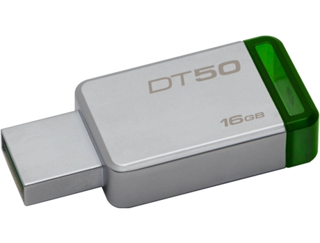 Pen USB KINGSTON DataTraveler 50 16GB USB 3.1 Metal/Verde — 16GB /USB 3.0