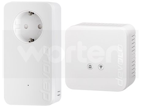 Powerline DEVOLO dLan 550 WiFi Starter (AV550 - N300 - Passthrough) — 2 uni. | 500 Mbps