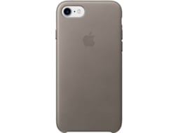 Capa iPhone 7 APPLE Leather Castanho — Compatibilidade: iPhone 7, 8