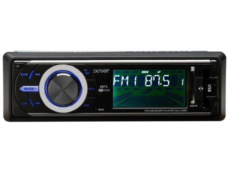 Autorrádio DENVER CAU-439BT — 25 W / MP3, USB,  SD