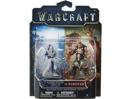 Pack Mini Figuras WARCRAFT Alliance Soldier VS Durotan — Tamanho: 6 cm