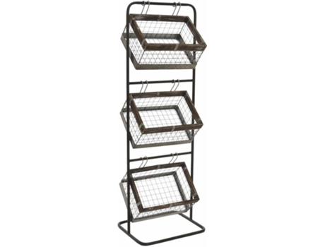 Estante ITEM 3 Cestas MB-148499 — 106 x 35 x 29 cm | Metal