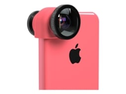 Kit Lentes iPhone 5/5S 3 em 1 OLLOCLIP Preto — Kit Lentes / iPhone 5/5S
