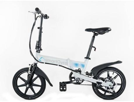 SMARTGYRO - Bicicleta Elétrica SMARTGYRO E-Bike Branca (Velocidade Máx: 25 km/h  Autonomia: 30 a 50 km)
