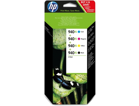Pack Combo HP 940XL Cores (C2N93AE) — Preto e Cores | XL