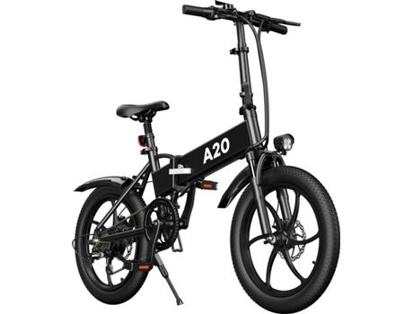 Marca do fabricante - Bicicleta Elétrica CROSS-COUNTRY Dobrável (20 - Preto - Autonomia: 60 km  Velocidade Máx: 25 km/h)