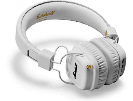 Auscultadores Bluetooth MARSHALL Major II em Branco — Bluetooth | 20-20kHz | 85 ohms | 98 dB SPL