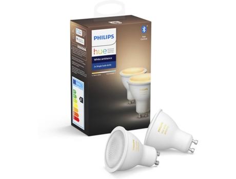 Kit 2 lâmpadas PHILIPS HueWA (GU10 - Branco) | [7069293 ]