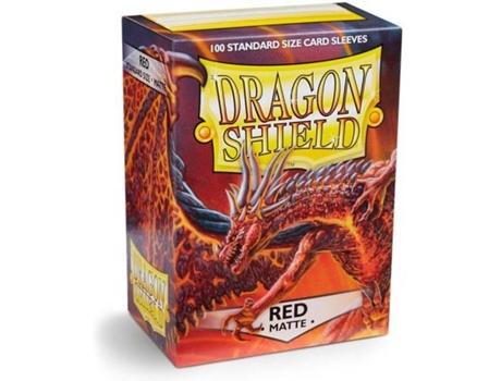 SEM MARCA - Dragon Shield Matte Red - 100 Unidades - Arcane Tinmen