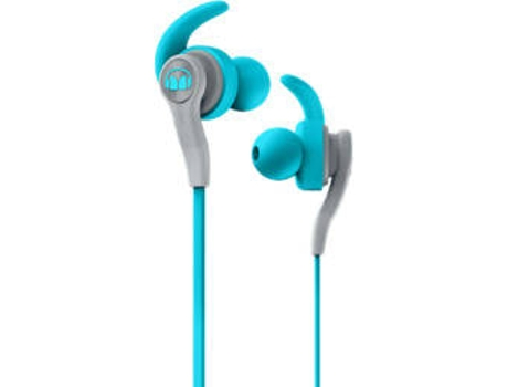 Auriculares Bluetooth MONSTER ISport Compete (In Ear - Microfone - Azul) — In Ear | Microfone | Atende chamadas