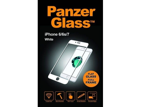 Película Vidro Temperado PANZERGLASS Glass iPhone 6, 6s, 7, 8 — Compatibilidade: iPhone 6, 6s, 7, 8