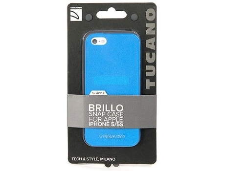 Capa TUCANO Brillo iPhone 5, 5s, SE Azul — Compatibilidade: iPhone 5, 5s, SE