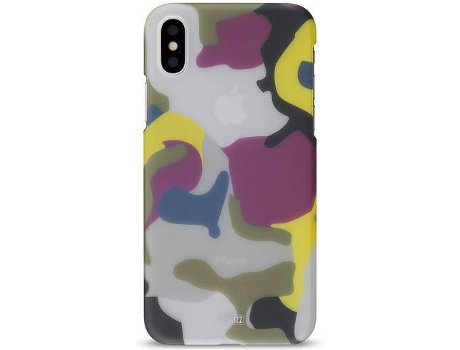 Capa ARTWIZZ Camouflage iPhone X, XS Multicor — Compatibilidade: iPhone X, XS