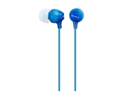 Auriculares Com fio SONY MDR-EX15LP (In Ear - Azul) — In Ear | Atende chamadas