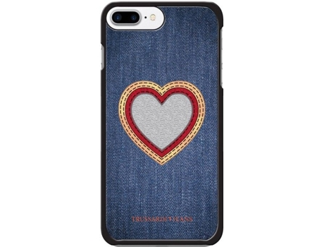 CAPA TRUSSARDI JEANS IPH8/7 PLUS HEART — iPhone 7 Plus