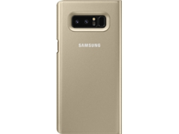 Capa SAMSUNG Clear View Samsung Galaxy Note 8 Dourado — Compatibilidade: Samsung Galaxy Note 8