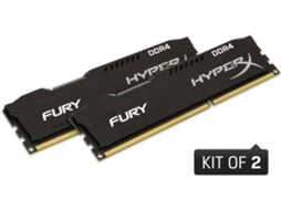 Memória RAM KINGSTON Hyperx Fury Black 16GB DDR4 2133Mhz CL14 DIMM (Kit de 2) — 16GB | DDR4 | 2133Mhz
