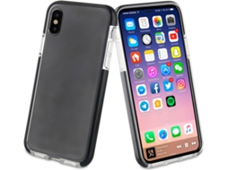 Capa MUVIT CSoft Bumper iPhone X Transparente e Preto — Compatibilidade: Apple iPhone X