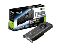Placa Gráfica ASUS GTX1060 TURBO 6GB DDR5 — GeForce GTX 1060 / 1506 MHz / 6 GB GDDR5