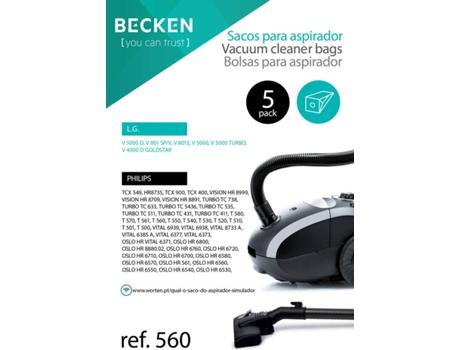 Sacos de Aspirador BECKEN REFª560 (5 unidades) | [4263812 ]
