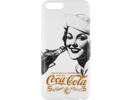 Capa  Hardshell COCA-COLA iPhone 6 Golden — Capa / iPhone 6/6S
