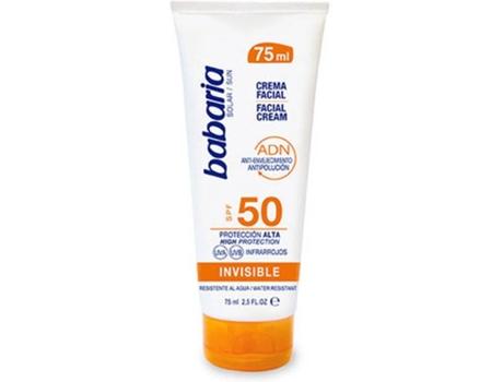 Protetor Solar Facial Solar Adn Invisible Babaria Spf 50 (75 ml)