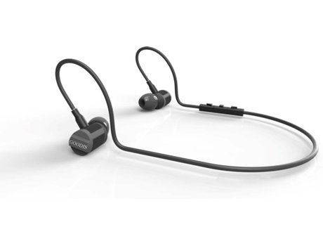 Auriculares Bluetooth GOODIS Extreme Sport Zephyr em Preto — In Ear | Microfone | Atende chamadas