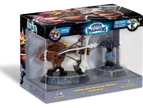 Figura Skylanders Imaginators Combo Pack - Sensei: Wolfgang and Creation Crystal — Coleção: Skylanders Imaginators