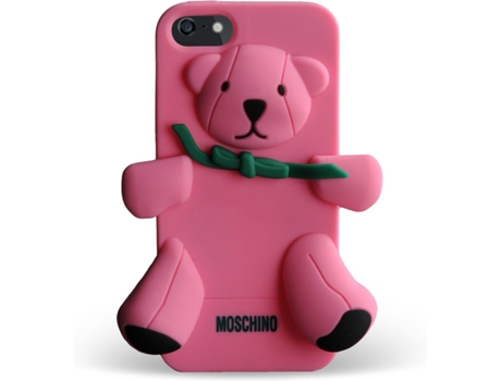 Capa MOSCHINO  Bear Gennarino iPhone 5, 5s, SE Rosa — Compatibilidade: iPhone 5, 5s, SE