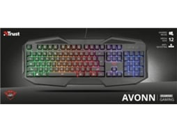 Teclado Gaming TRUST GXT 830-RW AVONN — Para PC / Windows