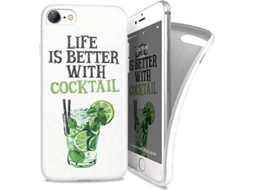 Capa I-PAINT Soft Cocktail iPhone 7, 8 Verde — Compatibilidade: iPhone 7, 8
