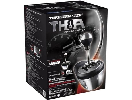 Gear Shift THRUSTMASTER TH8A Addon — Compatibilidade: PS3, PS4, PC e Xbox One