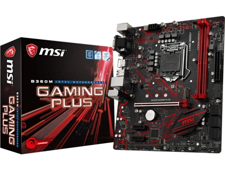 Motherboard MSI B360M Gaming Plus — LGA1151 | B360