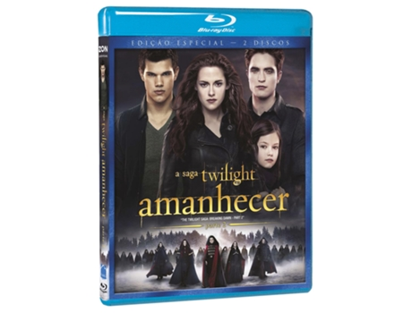 Blu-Ray A Saga Twilight Amanhecer Parte 2 — De: Bill Condon | Com: Kristen Stewart,Robert Pattinson,Taylor Lautner,Billy Burke, Peter Facinelli, Elizabeth Reaser
