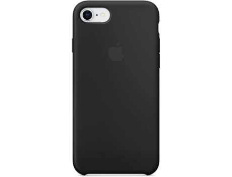 Capa APPLE iPhone 7, 8 Silicone Preto — Compatibilidade: iPhone 7, 8