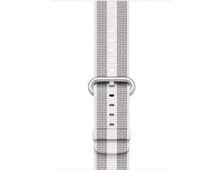Bracelete APPLE 42mm White Stripe Woven Nylon — Bracelete | 42mm