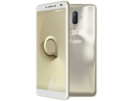 Smartphone ALCATEL 3V 16 GB Dourado — Android 8 | 6'' | Quad-Core | 2 GB RAM | Dual SIM